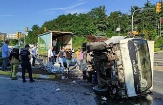 Beykoz'da korkunç kaza! 1'i bebek 4 kişi yaralı