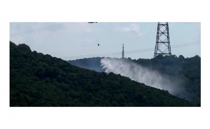 Anadolu Kavağı'nda Korkutan Orman Yangını