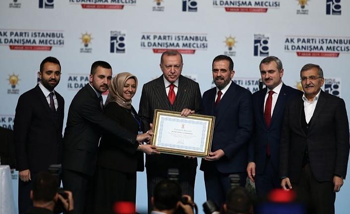 Cumhurbaşkanı Erdoğan'dan Beykoz'a Üye Ödülü